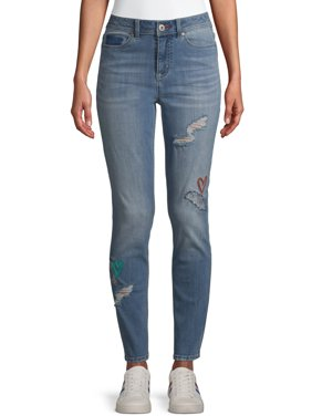 EV1 from Ellen DeGeneres Womens Preston Skinny Embroidered Jeans