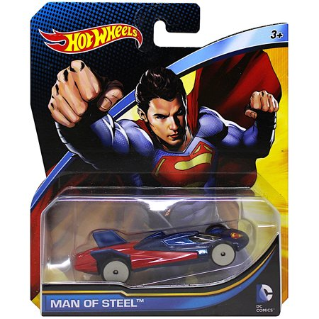 Hot Wheels Superman Man of Steel Character Car Diecast 1:64