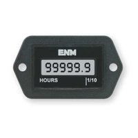 ENM T1121BB Hour Meter,LCD,2-Hole,4.5 to 28VDC