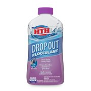 HTH Drop Out Flocculant for Pools, Drops Particles Overnight, 1 Qt