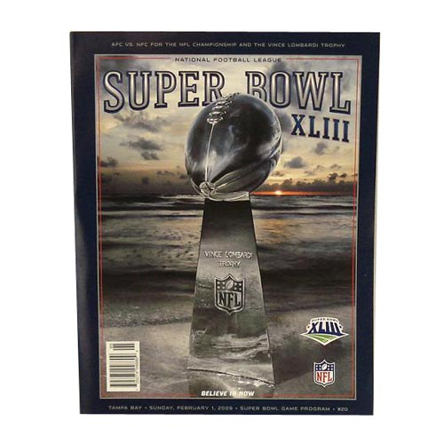 Super Bowl XLIII Game Program