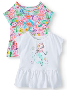 6a6e71536a71 Product Image Garanimals Graphic & Print Peplum Tops, 2pc Multi-Pack ( Toddler Girls)
