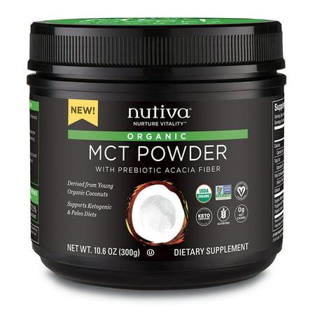 Nutiva Organic MCT Powder with Prebiotic Acacia Fiber, 10.6 Ounce