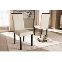 Baxton Studio Daveney Modern and Contemporary Cream Faux Leather Upholstered Dining Chair