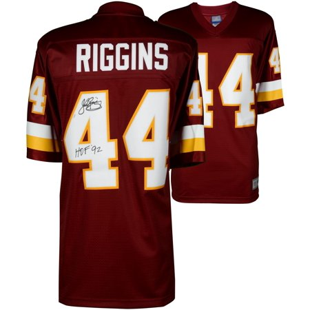 John Riggins Washington Redskins Autographed Red Mitchell & Ness Replica Jersey - Fanatics Authentic Certified