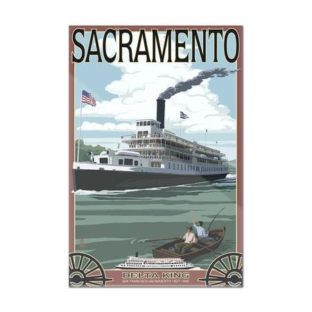 Sacramento, California - Delta King Riverboat - Lantern Press Artwork (8x12 Acrylic Wall Art Gallery (Acrylic Artwork)