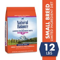 Natural Balance Small Breed Bites L.I.D. Limited Ingredient Diets Dry Dog Food, 12-Pound