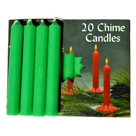 Home Décor Candles Prayer Altar Small Emerald Green Chime Size Candle Pack of 20 - Candle Prayer