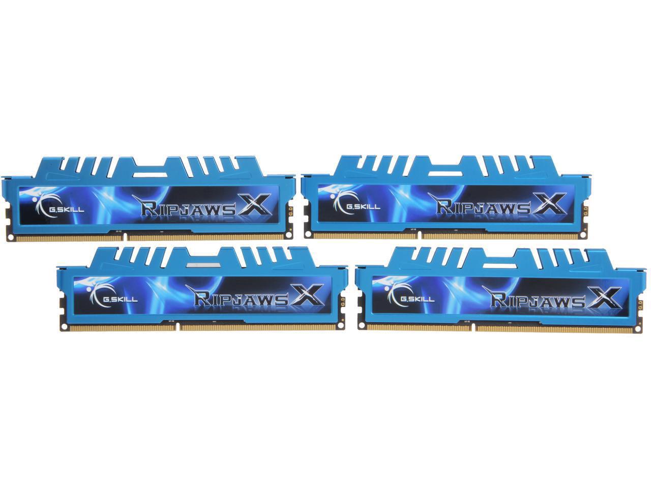 G.SKILL Ripjaws X Series 32GB (4x8GB) 240-Pin DDR3 866MHz DIMM F3-1866C9Q-32GXM