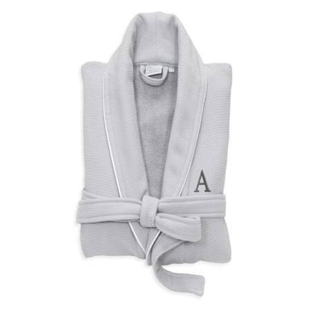 Linum Home Textiles Hotel Turkish Cotton Waffle Terry Bathrobe with Satin  Piped Trim - Personalized - Light Gray - Walmart.com d224d7909