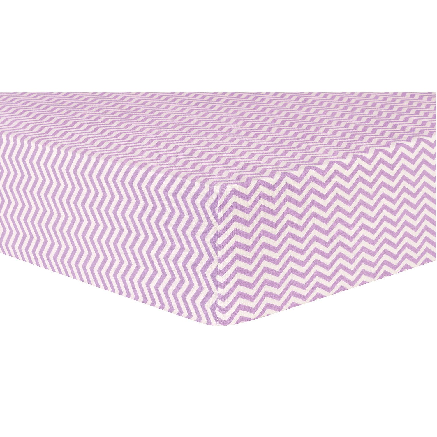Product of Trend Lab Deluxe Flannel Fitted Crib Sheet, Lilac Chevron - Sheets [Bulk Savings]