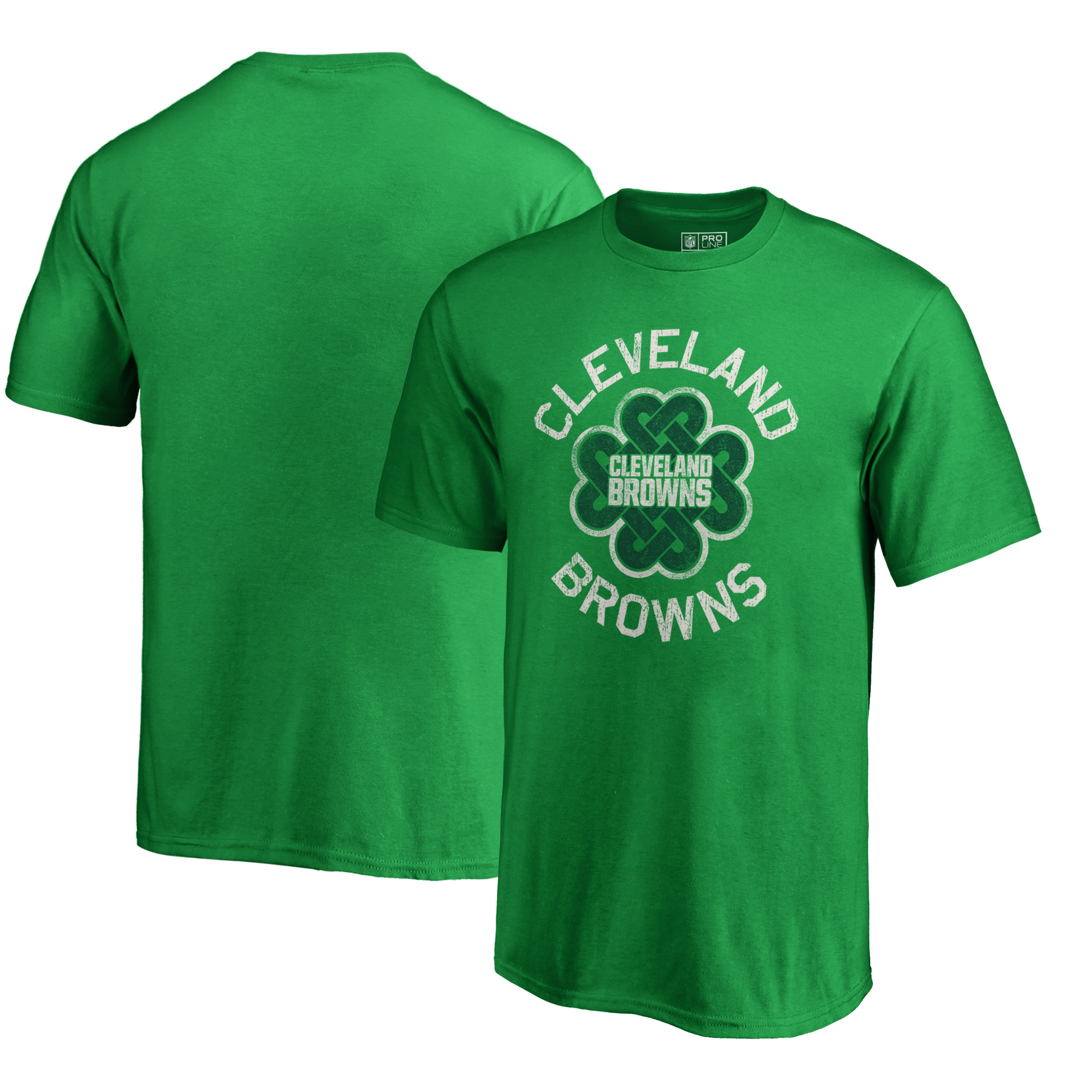 Cleveland Browns NFL Pro Line by Fanatics Branded Youth St. Patrick's Day Luck Tradition T-Shirt - Kelly Green