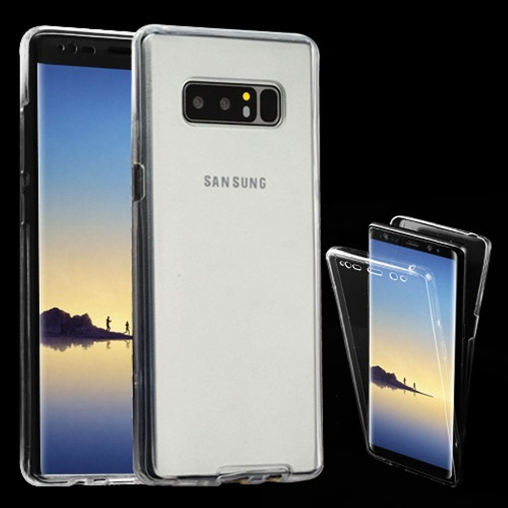 Insten Gel Hybrid Case For Samsung Galaxy Note 8 - Clear (Bundle with USB Type C Cable)
