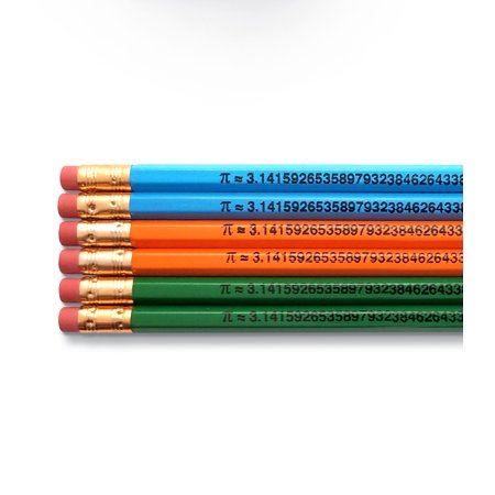 Engraved Pencils (The Number Pi Math - Inspirational Pencils Engraved With Funny And Motivational Sayings For School And The)