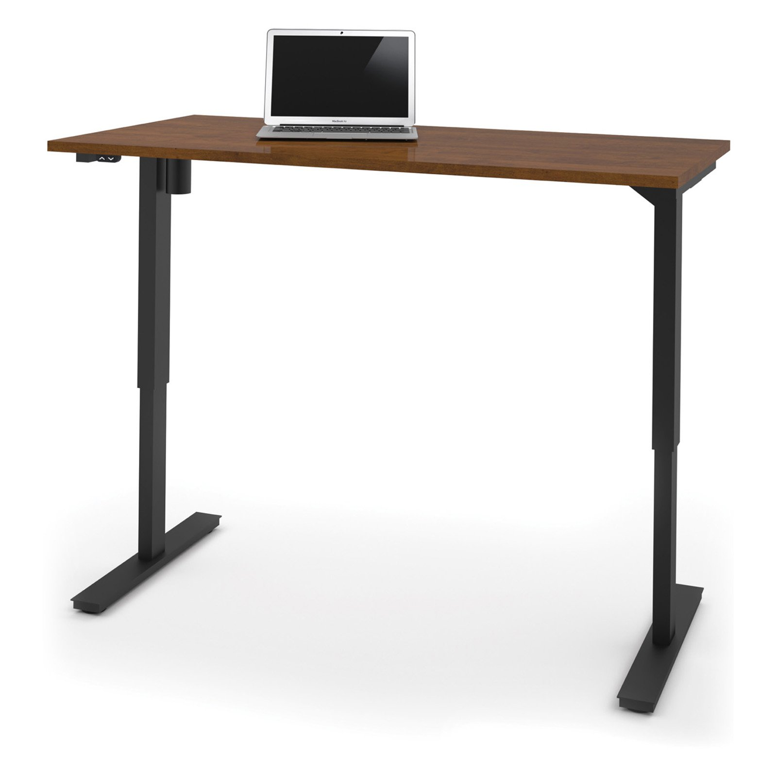 "Bestar 30"" x 60"" Electric Height adjustable table in Tuscany Brown by Bestar"