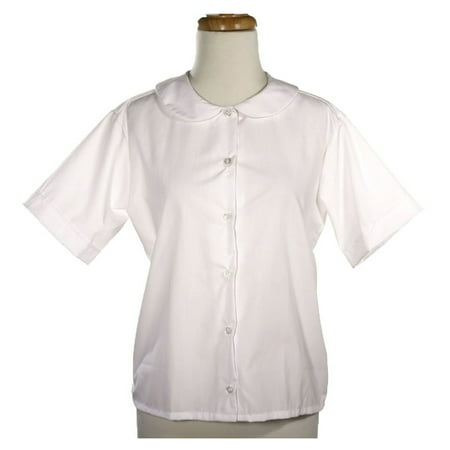 Peter Pan Blouse - White - Adult Size XS to XXL