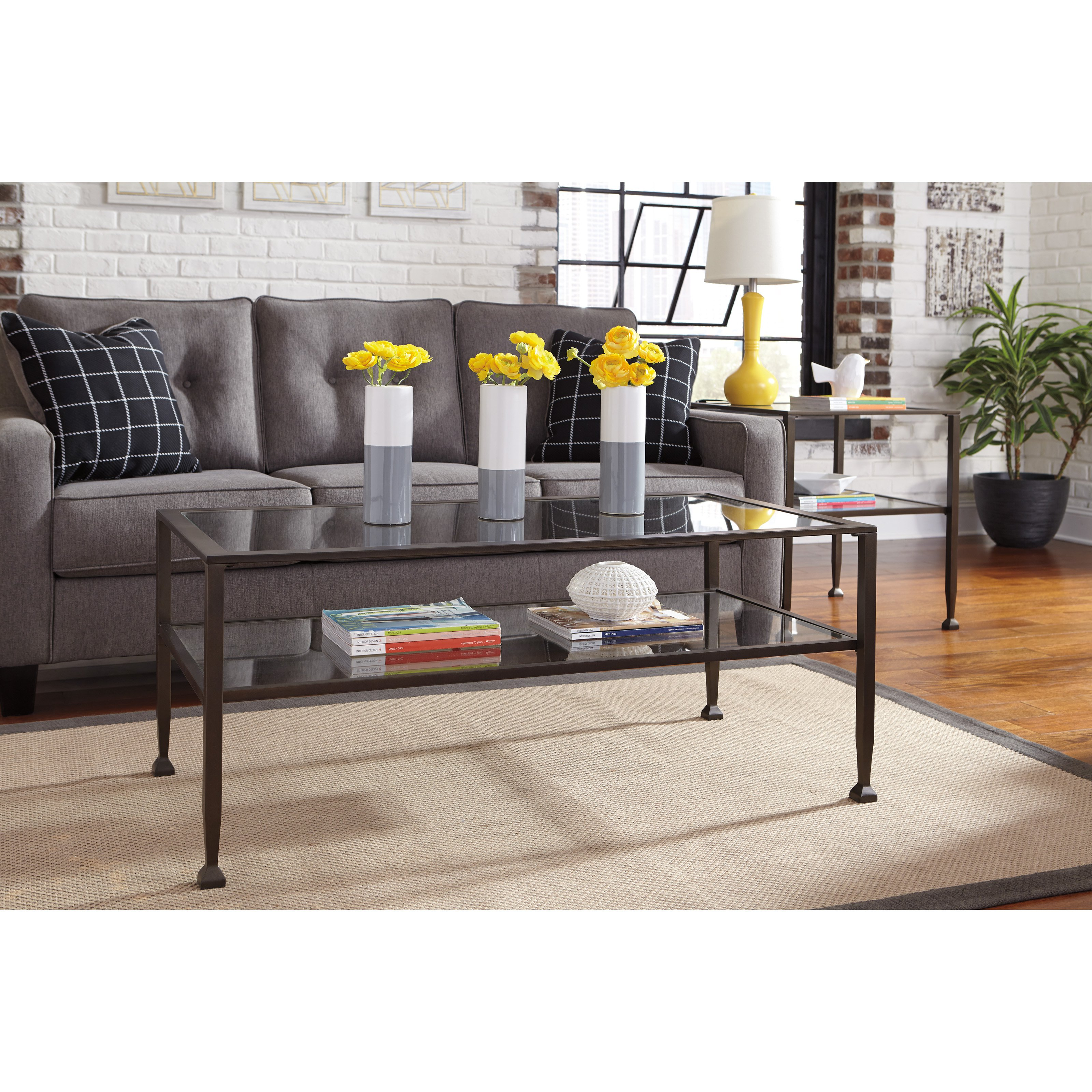 Signature Design by Ashley Tivion Rectangular Cocktail Table by Ashley Furniture