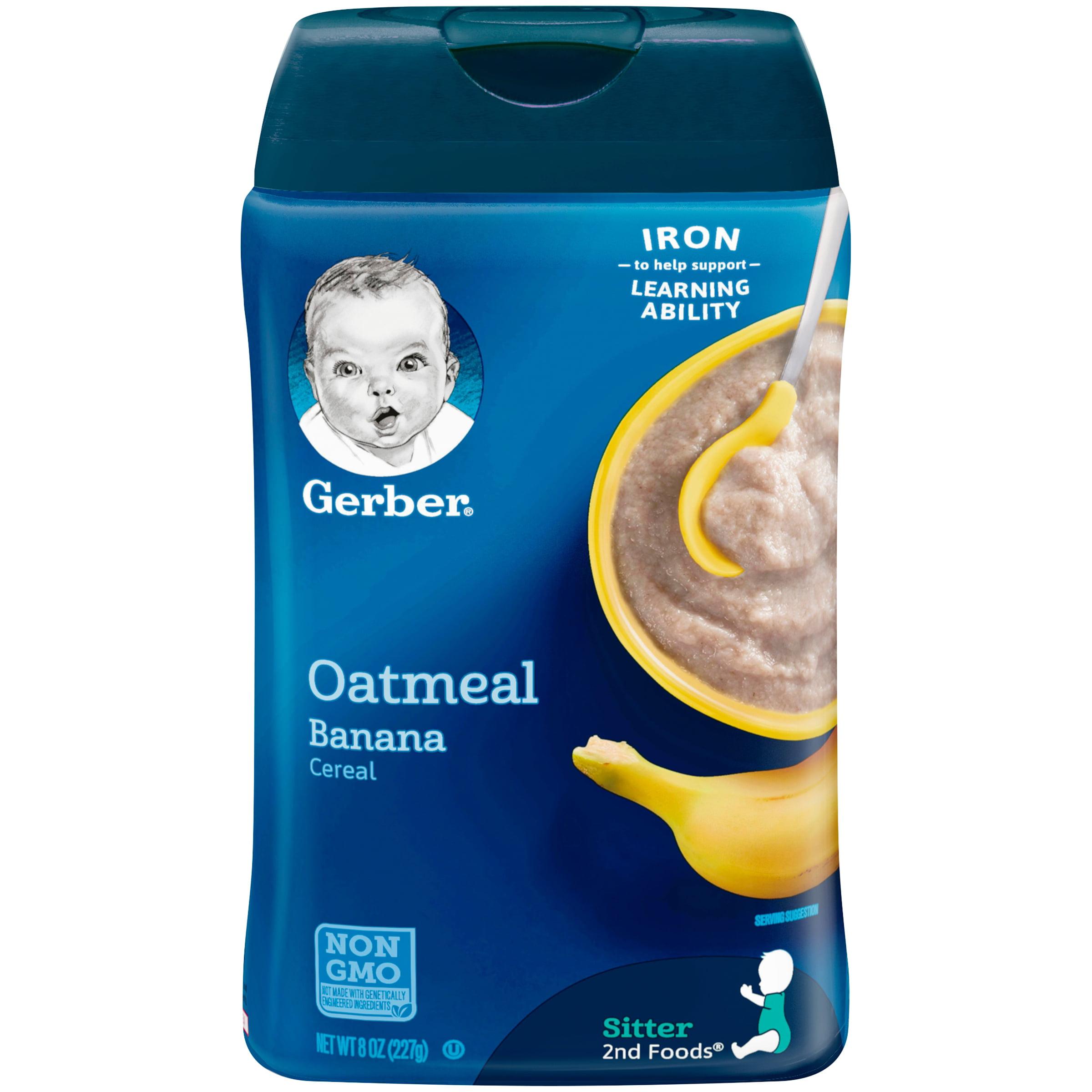 GERBER Oatmeal And Banana Baby Cereal 8 Oz