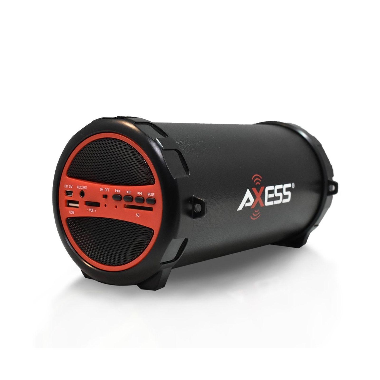 AXESS SPBT1031 Portable Bluetooth Indoor/Outdoor 2.1 Hi-Fi Cylinder Loud Spea...