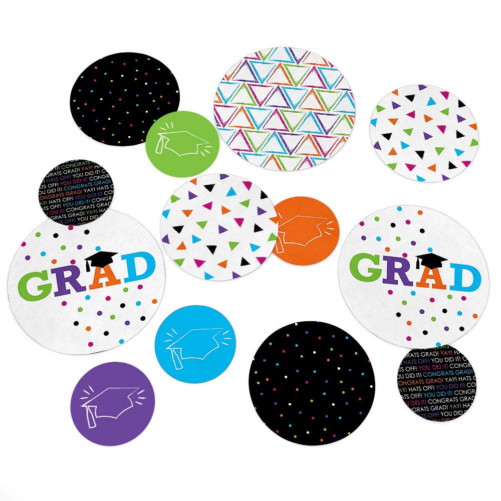 Hats Off Grad - Graduation Party Table Confetti Set - 27 Count