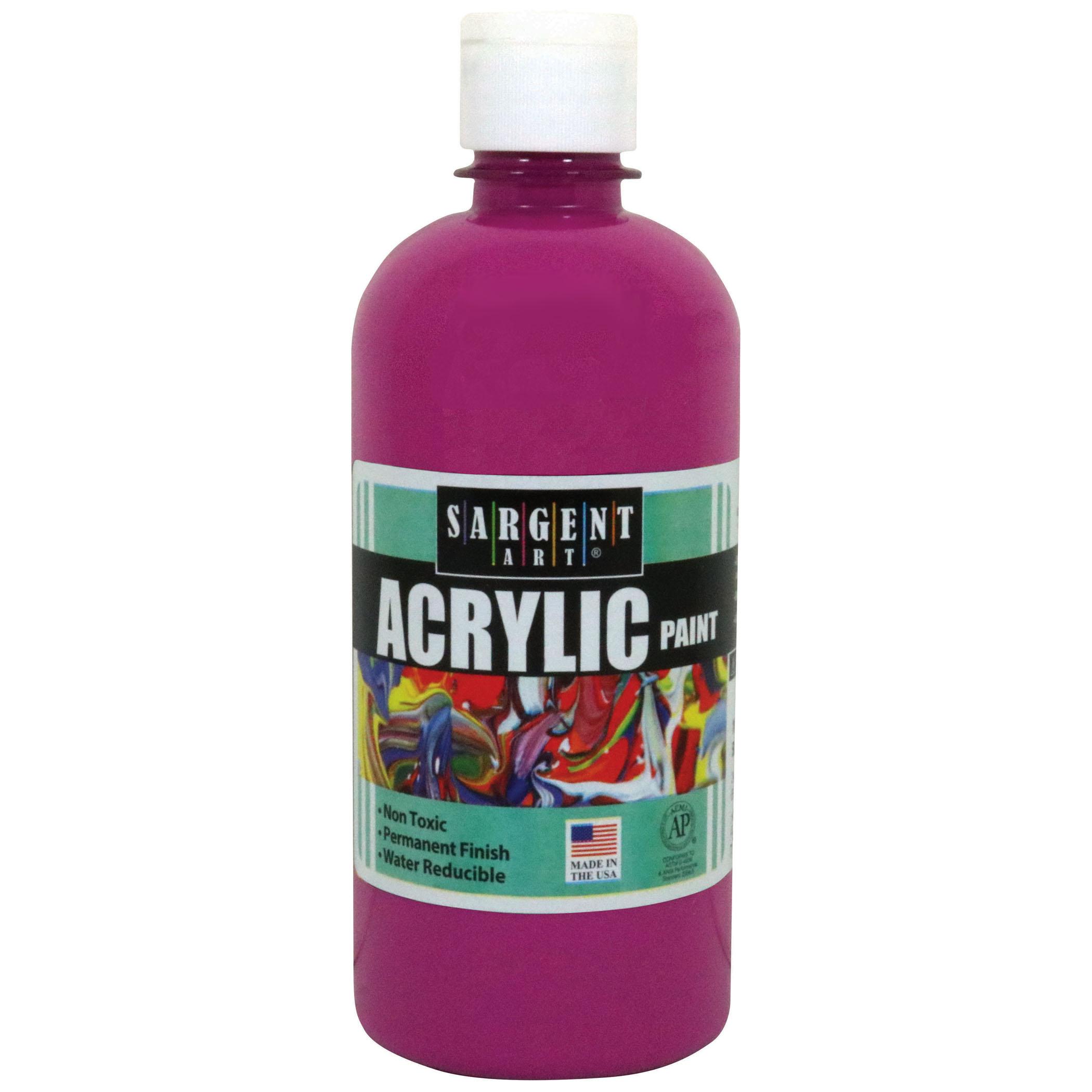 Sargent Art® Acrylic Paint, 16 oz. Squeeze Bottle, Brown, 3/pkg