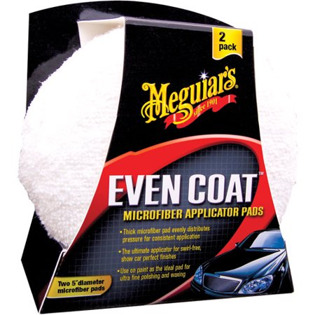 "Meguiar's X3080 Even Coat 5"" Microfiber Applicator Pads, 2 Pack"