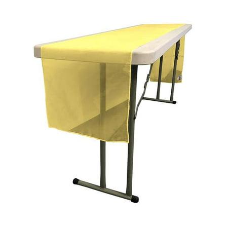 LA Linen TCOrgz14x108-DarkYellowO47 Sheer Mirror Organza Table Runner, Dark Yellow - 14 x 108 in. - image 1 of 1