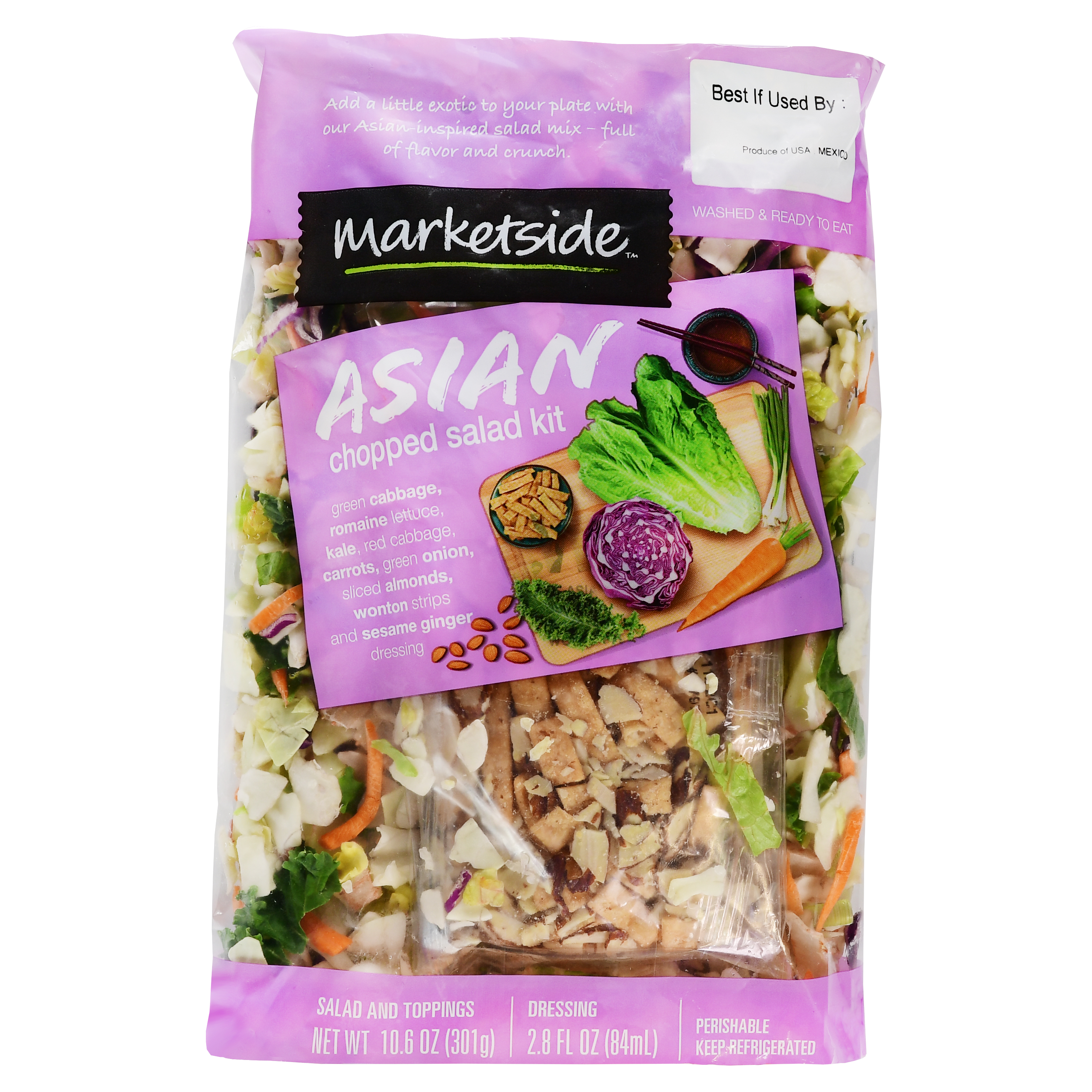 Marketside Asian Chopped Salad Kit, 13.4 oz