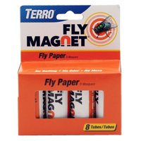 TERRO Fly Magnet T518 Fly Paper Trap, Solid, 8 Pack 4 Pack