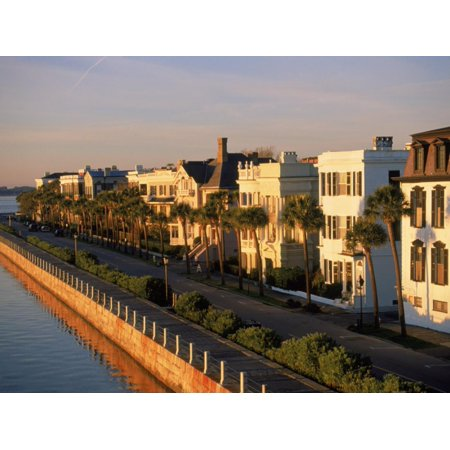 Historic Houses on Harbor, Charleston, SC Print Wall Art By Ron