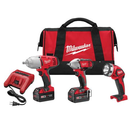 Milwaukee M18 2696-23 18V 3Pc Impact Combo Kit (12v Drill Driver Combo)