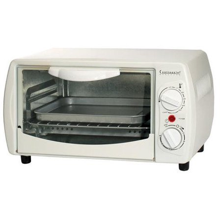 Continental Electric Ce23551 4 Slice Toaster Oven And