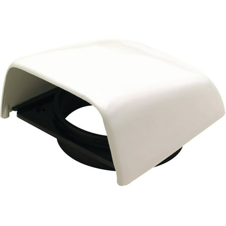 Beckson C8 Snap On Clam Vent with Hose Adapter, White, 5-1/2
