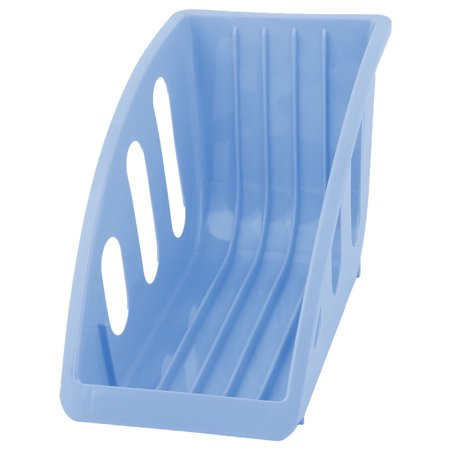 Deep Dish Restaurant - Restaurant Kitchen Plastic Plate Bowl Drying Storage Holder Dish Rack Blue