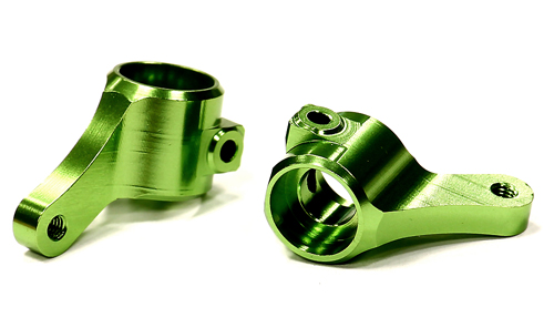Integy RC Toy Model Hop-ups T8675GREEN Billet Machined Steering Knuckles for 1 10 Traxxas... by Integy