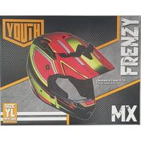 Fuel Helmets Youth Frenzy Off Road Helmet R/y Yl