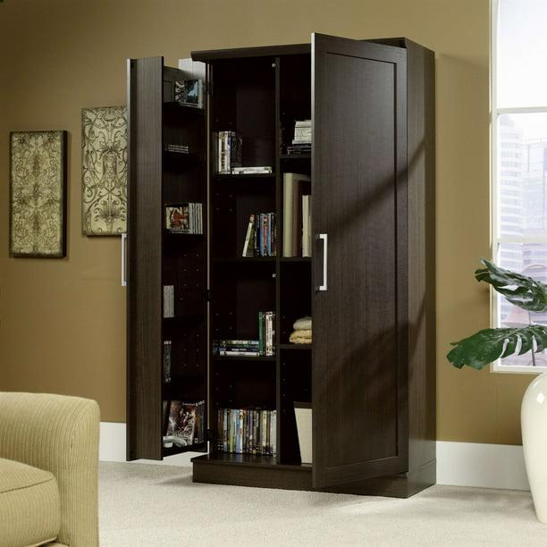 Multi-Purpose Living Room Kitchen Cupboard Storage Cabinet Armoire in Brown