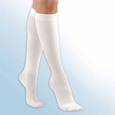 activa anti emb 18 mmhg knee high closed toe stockings beige x large