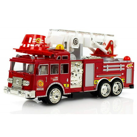 - Fire Engine Truck Kids Toyl Kids Toy Extending Ladder & Lights & Siren Sounds Vocal Phrases Bump & Go Action