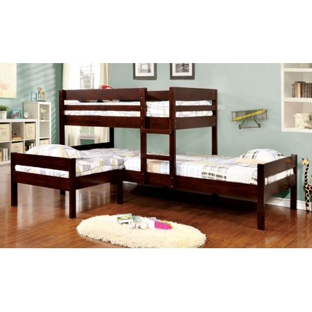 Furniture Of America Franny Transitional Triple Bunk Bed Espresso