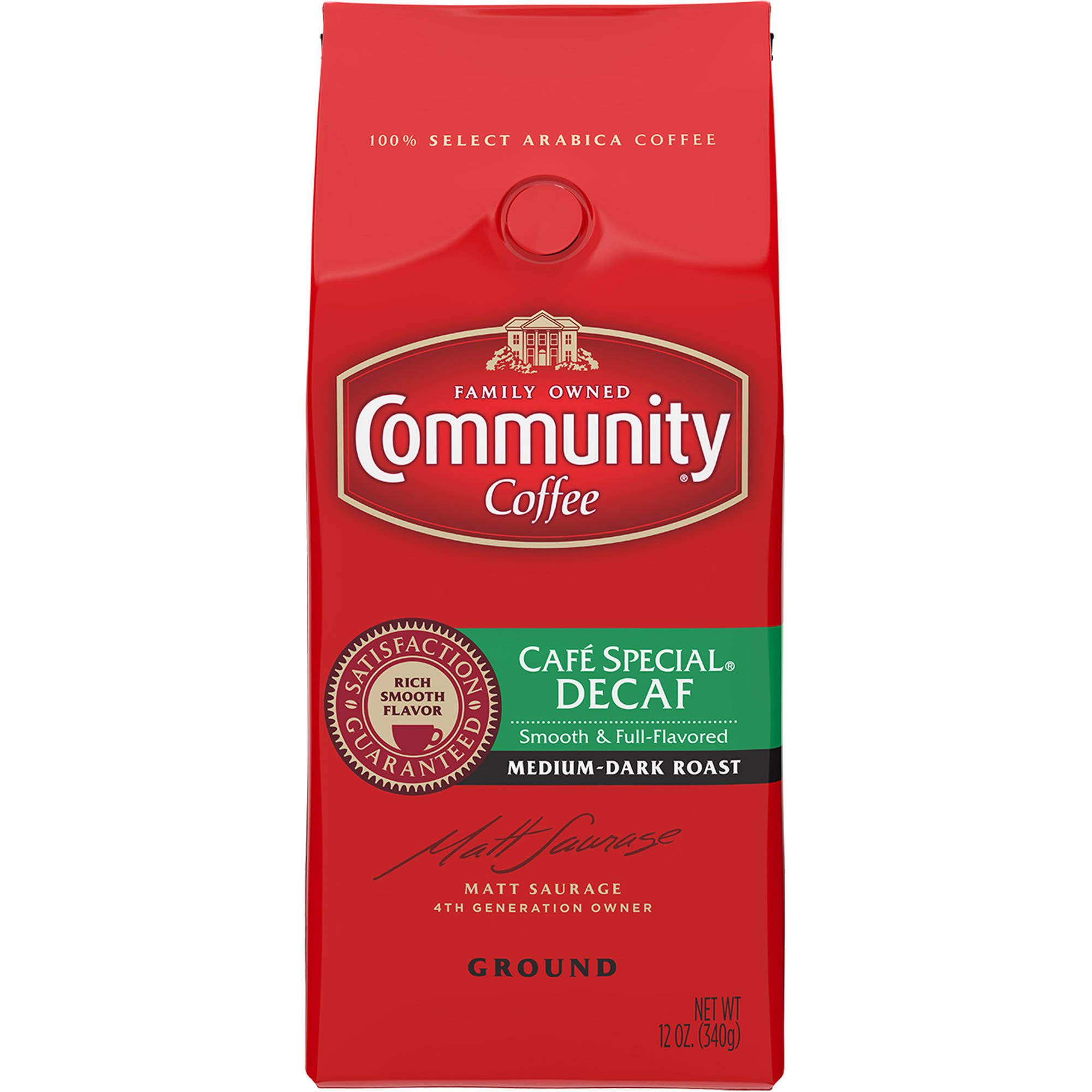 Community Coffee Decaffeinated Coffee, 12 oz