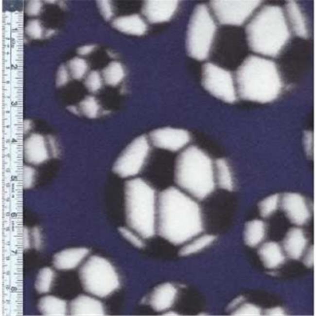 Textile Creations MFP-300-02 Sport Fleece, Soccer Balls Red