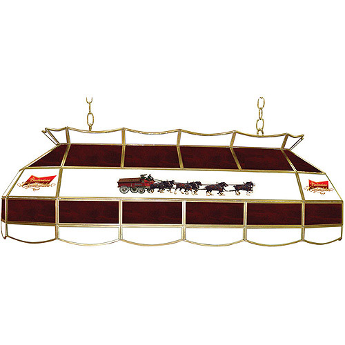 "Trademark Global Budweiser Clydesdale 40"" Stained Glass Billiard Table Light Fixture"