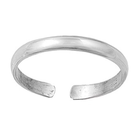 2.5mm Plain Band .925 Sterling Silver Toe Ring