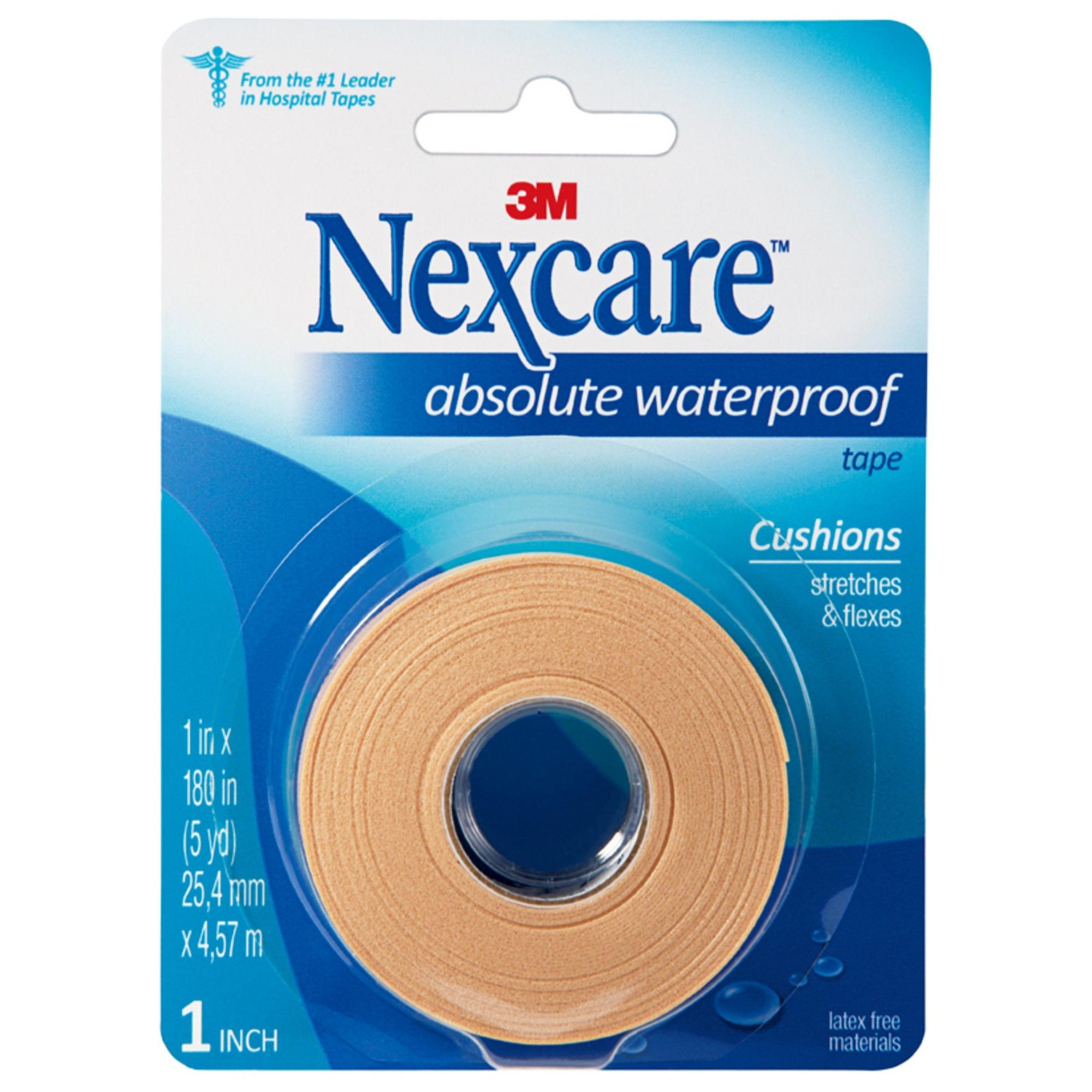 Nexcare Absolute Waterproof First Aid Tape, 1 in x 5 yds