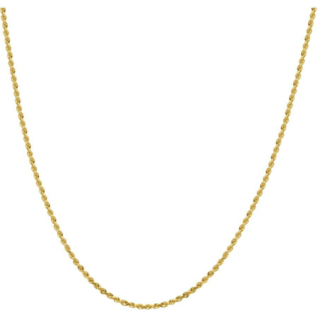 Simply Gold 14Kt Yellow Gold 2 0Mm Glitter Solid Rope Chain