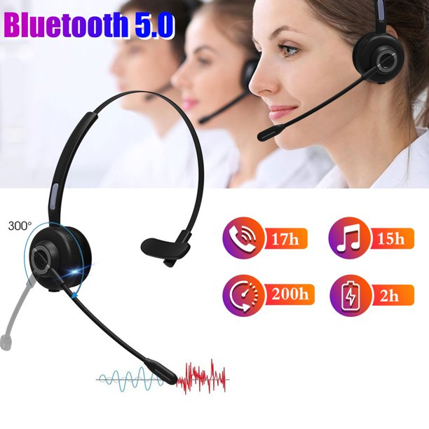 Trucker Bluetooth Headset Tsv Wireless Headset With Microphone Charging Station Noise Cancelling Hands Free Cell Phone Headset 17h Talking Time For Truck Driver Call Center Office Pc Skype Walmart Com Walmart Com
