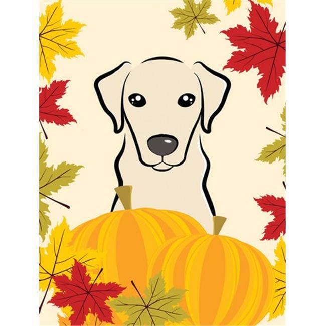 Yellow Labrador Thanksgiving Flag Garden