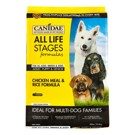 Canidae Chicken Meal and Rice Formula Dry Dog Food, 30