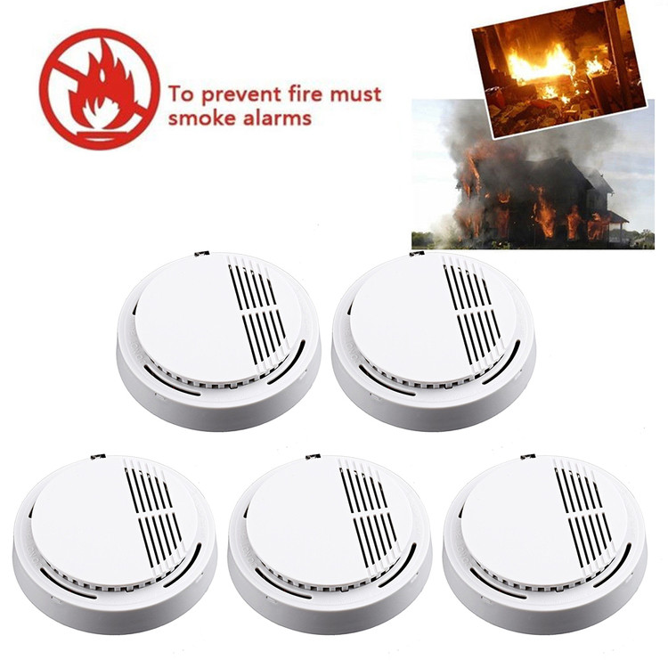 5pcs Fire Alarm Wireless Smoke Detector Warehouse Home Security Fire Alarm Sensor System Lot